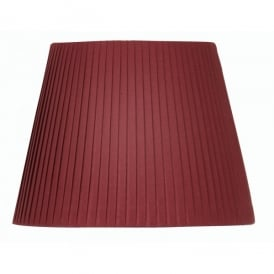 10 Inch Pencil Pleat Fabric Shade in Wine Red