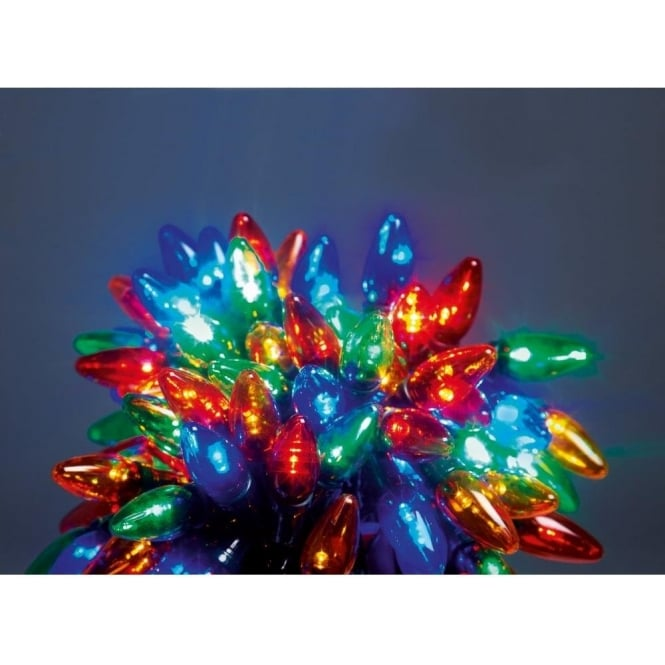 premier decorations 120 multi coloured multi action led chasing lights lighting type from castlegate lights uk - Chasing Led Christmas Lights