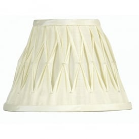 14 Inch Pinched Pleat Style Shade with Ivory Faux Silk