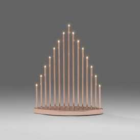 15 Light LED Metal Welcome Light in Lacquered Copper Metal Finish
