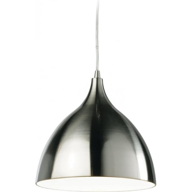 Firstlight 3337BSWH Cafe Single Light Ceiling Pendant with White Inside