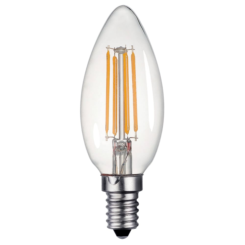 dar bulbs 4w dimmable led e14 clear candle style bulb in warm white lighting type from. Black Bedroom Furniture Sets. Home Design Ideas