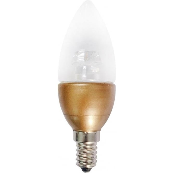 Bell Lighting 4w LED SES/E14 Candle Bulb with Gold Cap