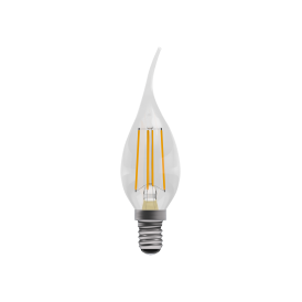 4w LED Vintage LED SES Clear Bent Tip Candle Style Bulb