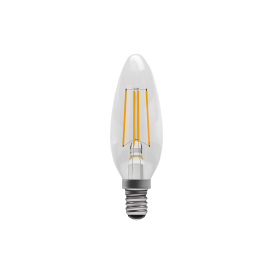 4w LED Vintage LED SES Clear Candle Style Bulb