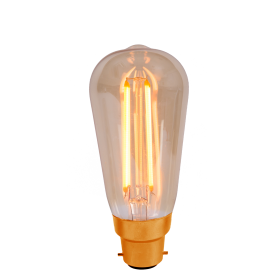 4w LED Vintage Squirrel Cage Filament Lamp BC Amber