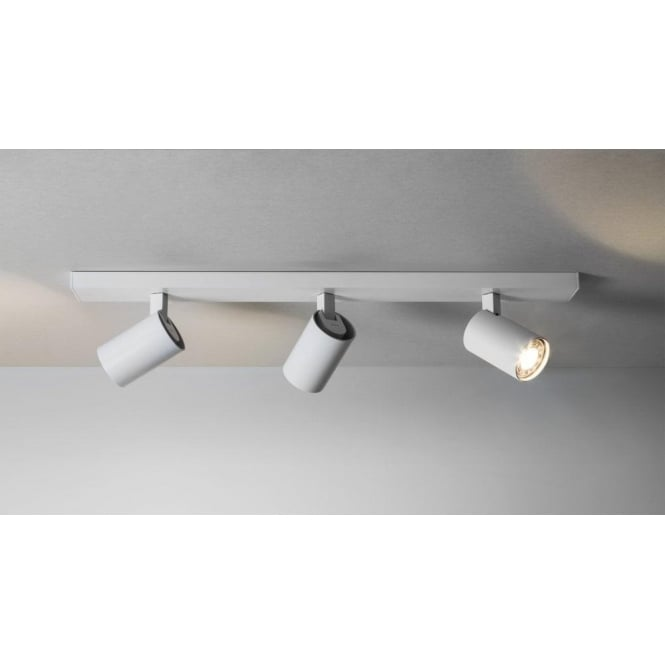 Astro Lighting 6144 Ascoli 3 Light Bar Ceiling Spotlight Fitting In White Finish