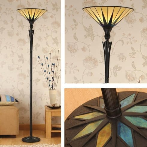 Interiors 1900 64042 dark star single light uplighter for Uplighter single floor lamp