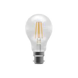 6w LED Dimmable Vintage LED BC Clear GLS Style Bulb