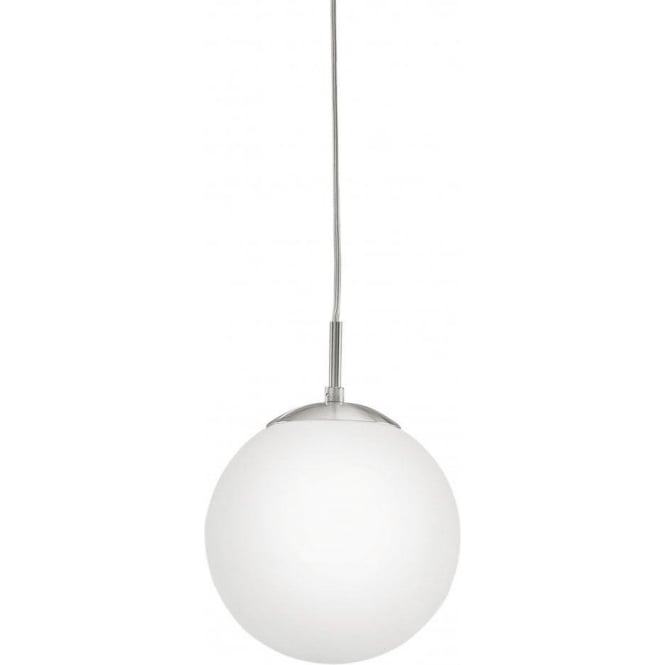 Eglo Lighting 85261 Rondo Single Light Small Opal White Glass Globe Ceiling Pendant