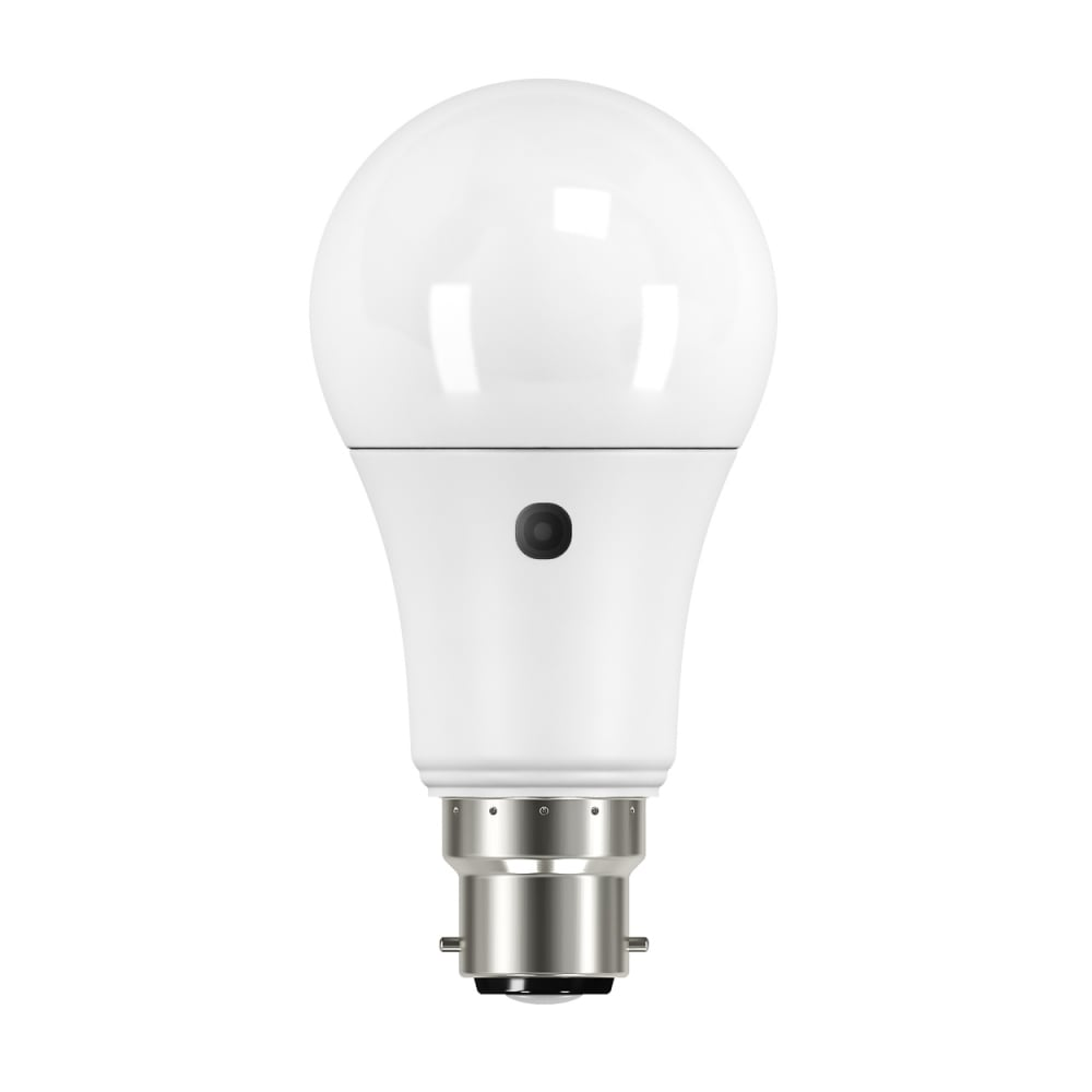 Bell Lighting 9w Led Bc Gls With Dusk Till Dawn Sensor In Warm White  2700k