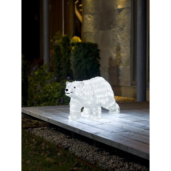 Konstsmide Acrylic Outdoor Polar Bear With 200 White Led S