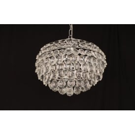 Adaliz 4 Light Ceiling Pendant In Polished Chrome And Crystal Finish
