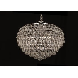 Adaliz 6 Light Ceiling Pendant In Polished Chrome And Crystal Finish