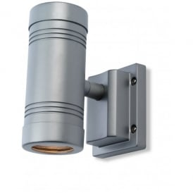 Aero Spots 2 Light Wall Lamp in Aluminium Finish