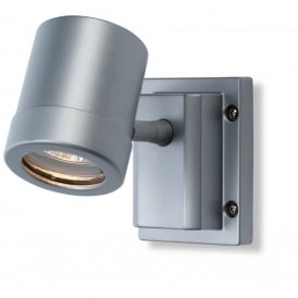 Aero Spots Single Light Wall Lamp in Aluminium Finish