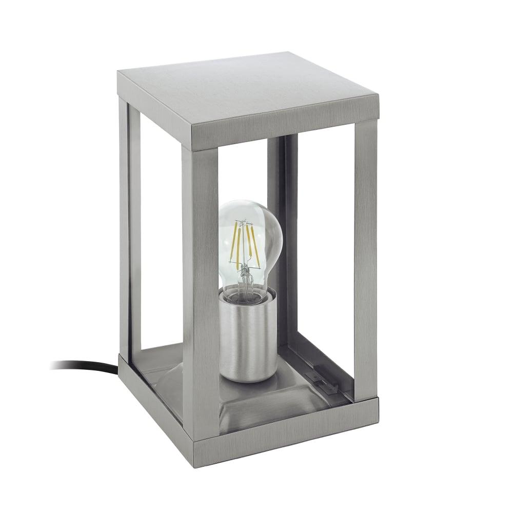 Patio Table Lights Uk: Eglo Lighting Alamonte Single Light Outdoor Table Lamp In