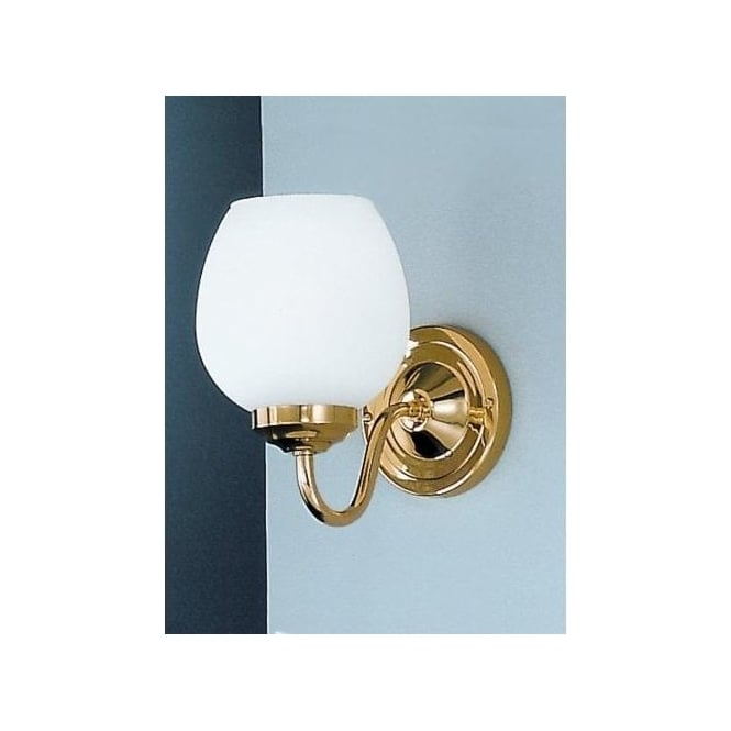 Franklite Alba Single Light Polished Genuine Brass Wall Fixture with Opal Glass Shades ...
