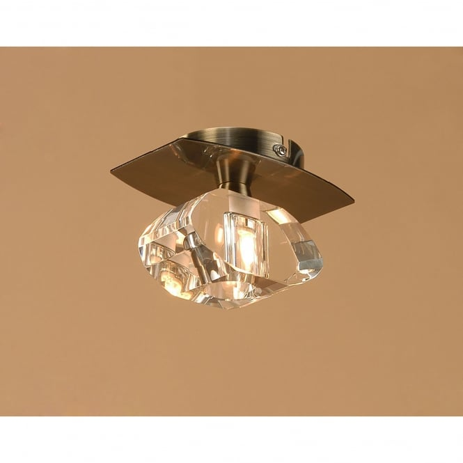 Brass Finish Ceiling Lights : Mantra alfa single light flush ceiling fitting in antique