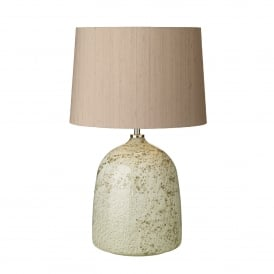 Alte Single Light Table Lamp Base Only in Multi-Colour Volcanic Effect Glass