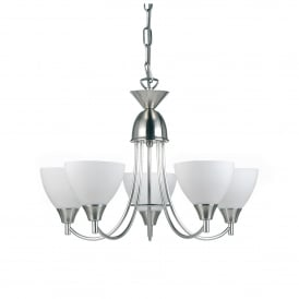 Alton 5 Light Ceiling Fitting In Satin Chrome Finish