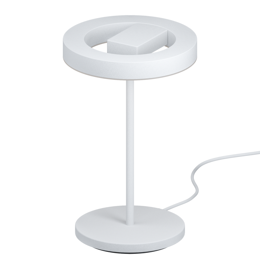 eglo lighting alvendre led touch operated table lamp in white and polished chrome finish. Black Bedroom Furniture Sets. Home Design Ideas
