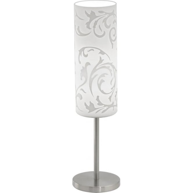 Eglo Lighting Amadora Frosted Glass Table Lamp With Frosted Glass Shade And  Satin Nickel Finish   Lighting Type From Castlegate Lights UK