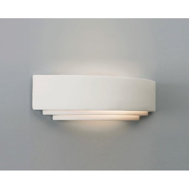 Astro Lighting Amalfi Plus 520 Low Energy Single Light Ceramic Wall Fitting In White Finish
