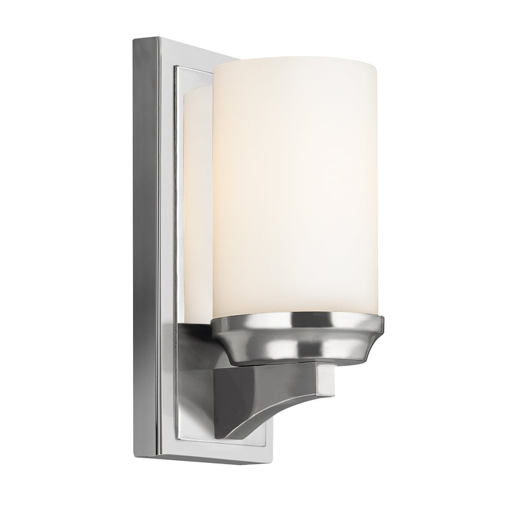 Small Chrome Wall Lights : Elstead Lighting Amalia Single LED Small Bathroom Wall Fitting in Polished Chrome Finish with ...