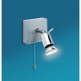 Aqua Switched Single Spotlight in Aluminium Finish with Clear Glass