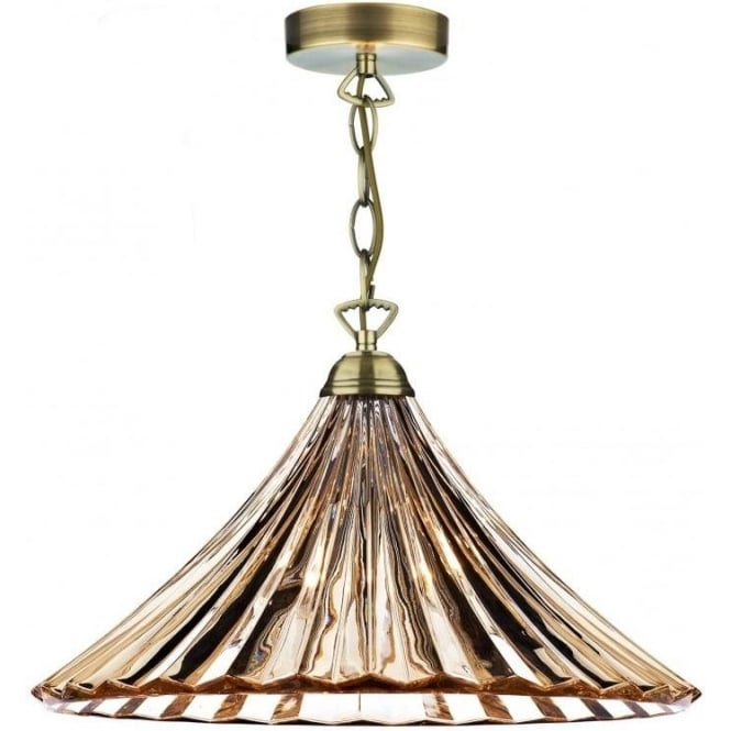 Dar lighting ardeche antique brass single light ceiling pendant dar lighting ardeche antique brass single light ceiling pendant with amber glass lighting type from castlegate lights uk mozeypictures Image collections