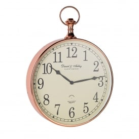 Armstrong Wall Clock in Copper Plated Finish