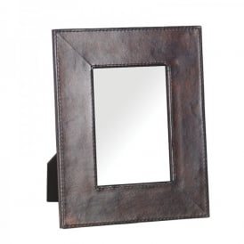 Arnim Photo Frame In Dark Brown Leather Finish