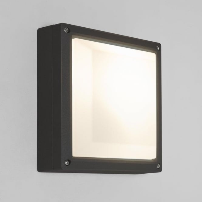 Astro Lighting Arta 210 Square Single Light Low Energy Wall Fitting In Black Finish