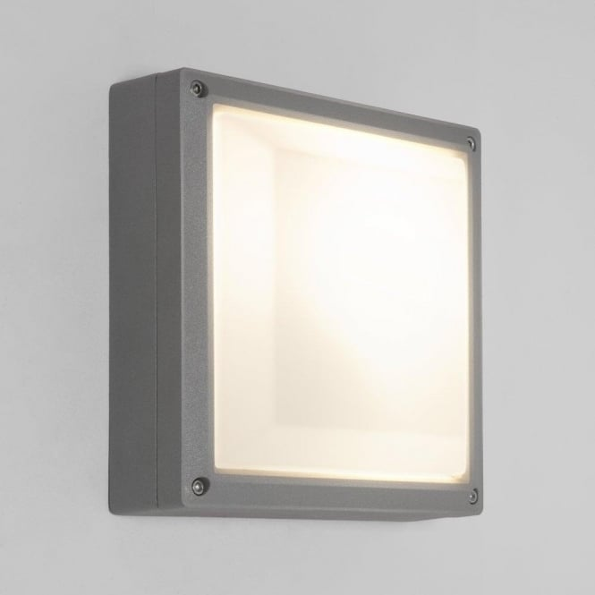 Astro Lighting Arta 210 Square Single Light Low Energy Wall Fitting In Silver Finish