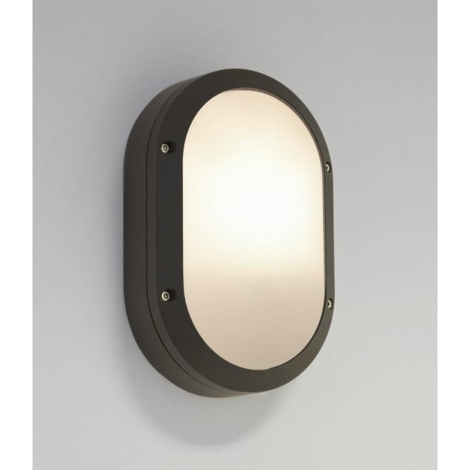 Astro Lighting Arta Oval Single Light Low Energy Outdoor Wall Fitting In Black Finish