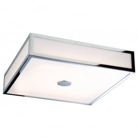 Aruba LED Flush Ceiling Light in Chrome Finish with Polycarbonate Diffuser