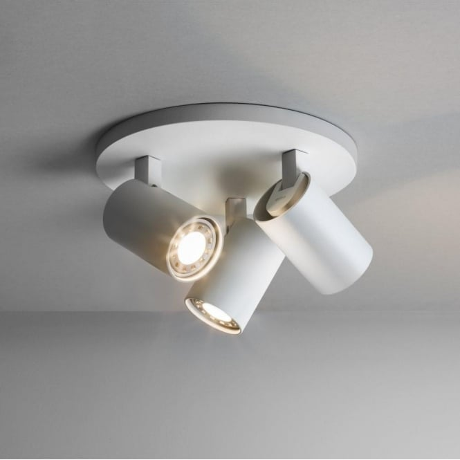 Astro Lighting Ascoli 3 Light Round Ceiling Spotlight Fitting In White Finish
