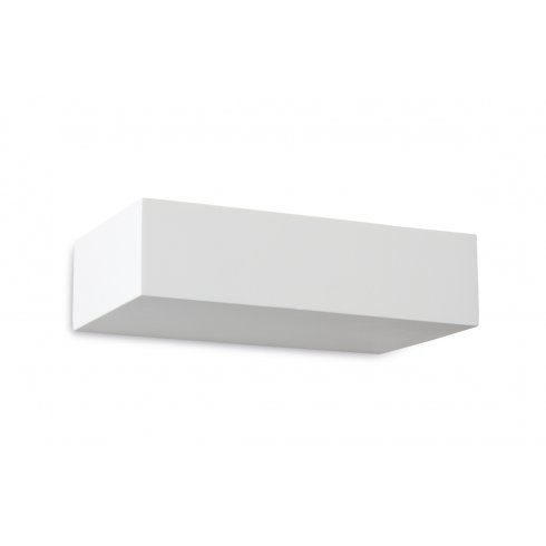 Plaster Cast Wall Lights : Firstlight Ascot Plaster Single Light Wall Uplighter in White Plaster Finish - Lighting Type ...
