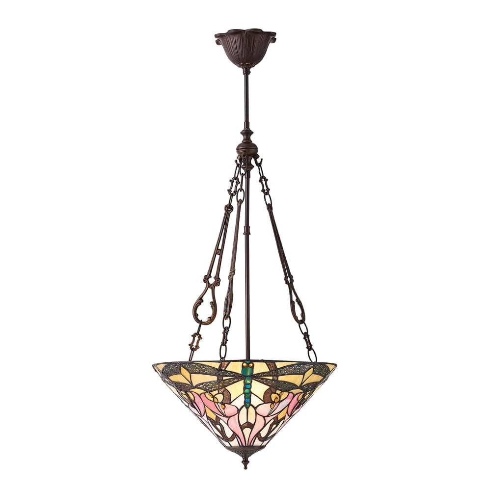 Interiors 1900 Ashton 3 Light Tiffany Ceiling Pendant With
