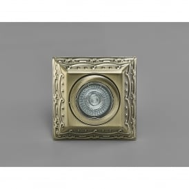 Aspen Single Light Square Ceiling Down Light In Antique Brass Finish