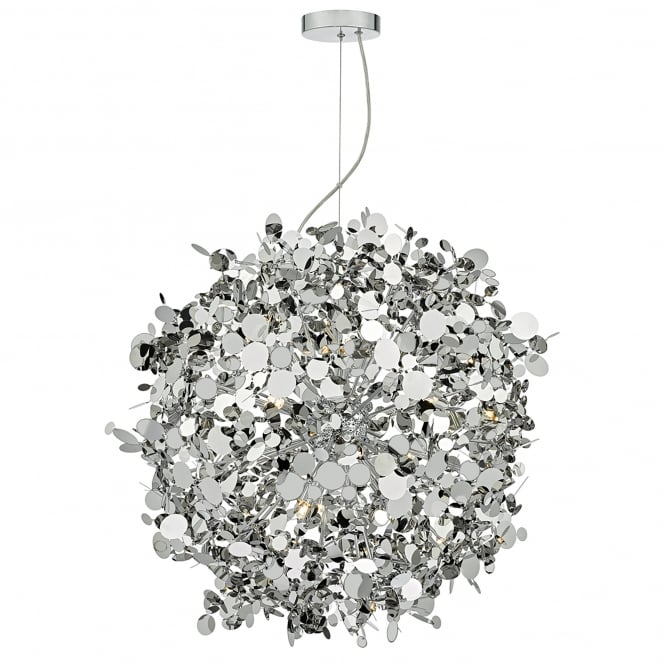 Dar Lighting Astrid 12 Light Ceiling Pendant in Polished Chrome Finish