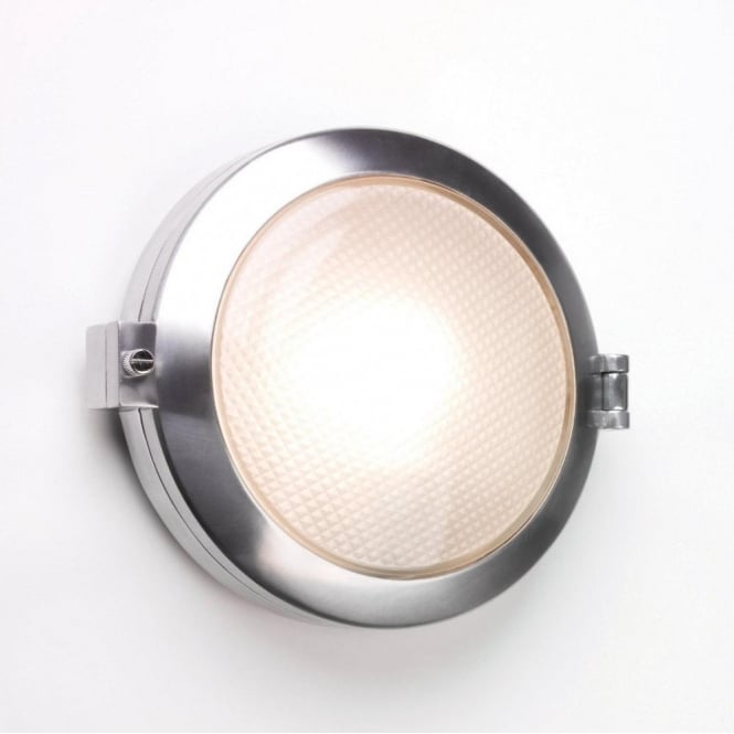 Astro Lighting 0325 Toronto Round Single Light Wall Fitting In Polished Aluminium Finish