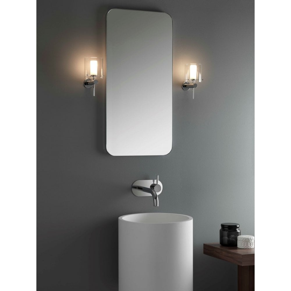 Astro 1049001 Arezzo Single Light Bathroom Wall Fitting In Polished Chrome Castlegate Lights