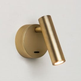 1058108 Enna Surface Single Light LED Switched Wall Fitting In Matt Gold Finish