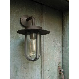 1096009 Montparnasse Single Light Outdoor Wall Fitting in Bronze Finish