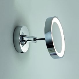 1137003 Catena LED Magnifying Bathroom Mirror In Polished Chrome Finish