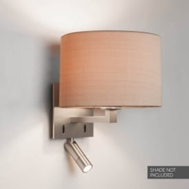 1142034 Azumi LED Reader 2 Light Wall Fitting In Matt Nickel Finish