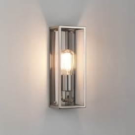 1183006 Messina Single Light Outdoor Wall Fitting in Polished Nickel Finish