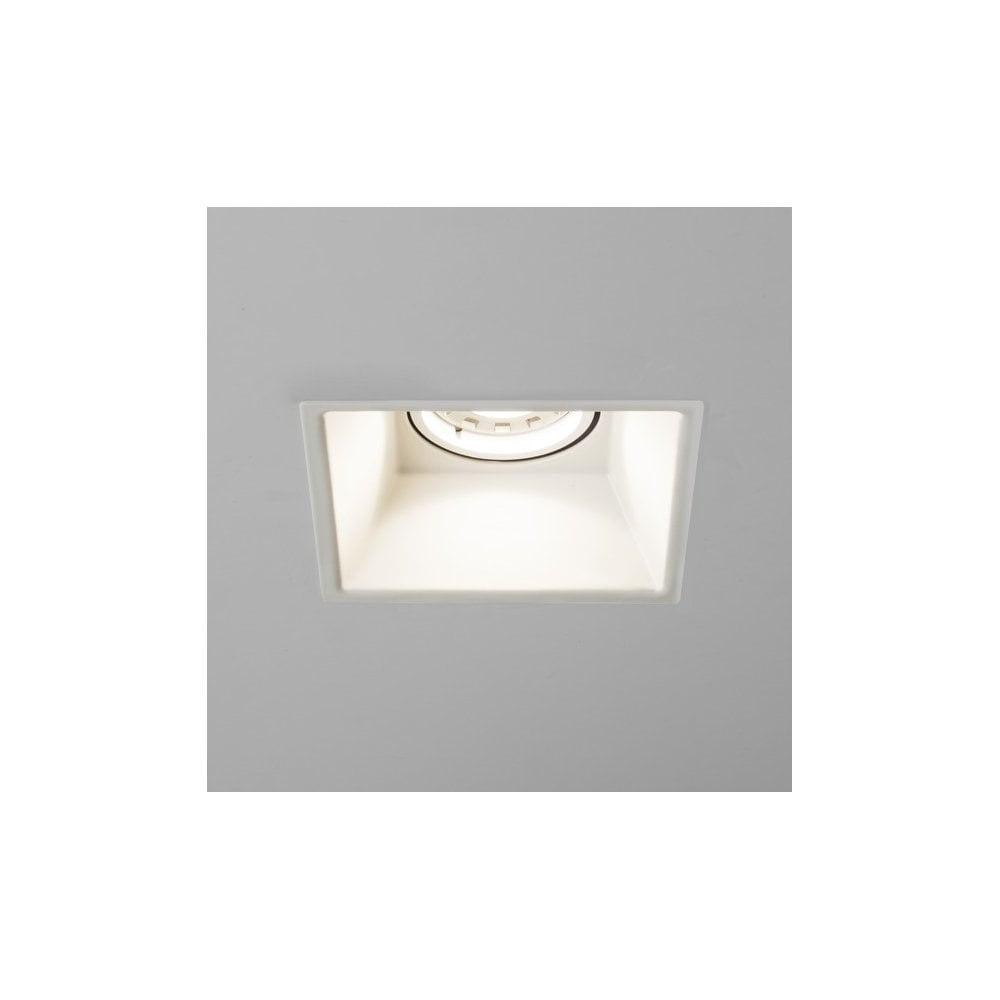 brand new 2beb0 bd93c 1249011 Minima Single Light Fixed Fire Rated Square Recessed Ceiling  Fitting In White Finish